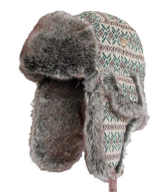 Icegrey Gorra de Bombardero Sombrero de Invierno Unisex Caperuza Caliente  Orejeras Sombrero  Amazon.es  Ropa y accesorios 3b03f1c2864