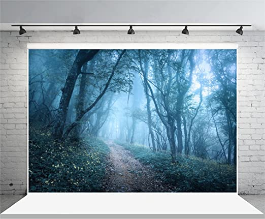 New Photo Backdrop 7x5 Gray Misty Forest White Wolf Photography Background Cloth Seamless Wild Animal Nature Photography Backdrop Person Portrait Pictures Prop