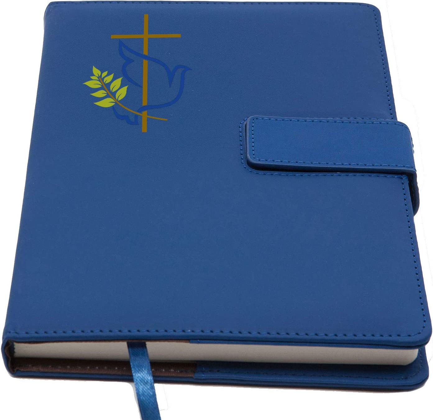 The Peace Dove Refillable Writing Journal | Magnetic Faux Leather Journal, 5 x 8 Inch, 200 Lined Pages Travel Personal Diary, Quality Notebooks and Journals for Men and Women from The Amazing Office