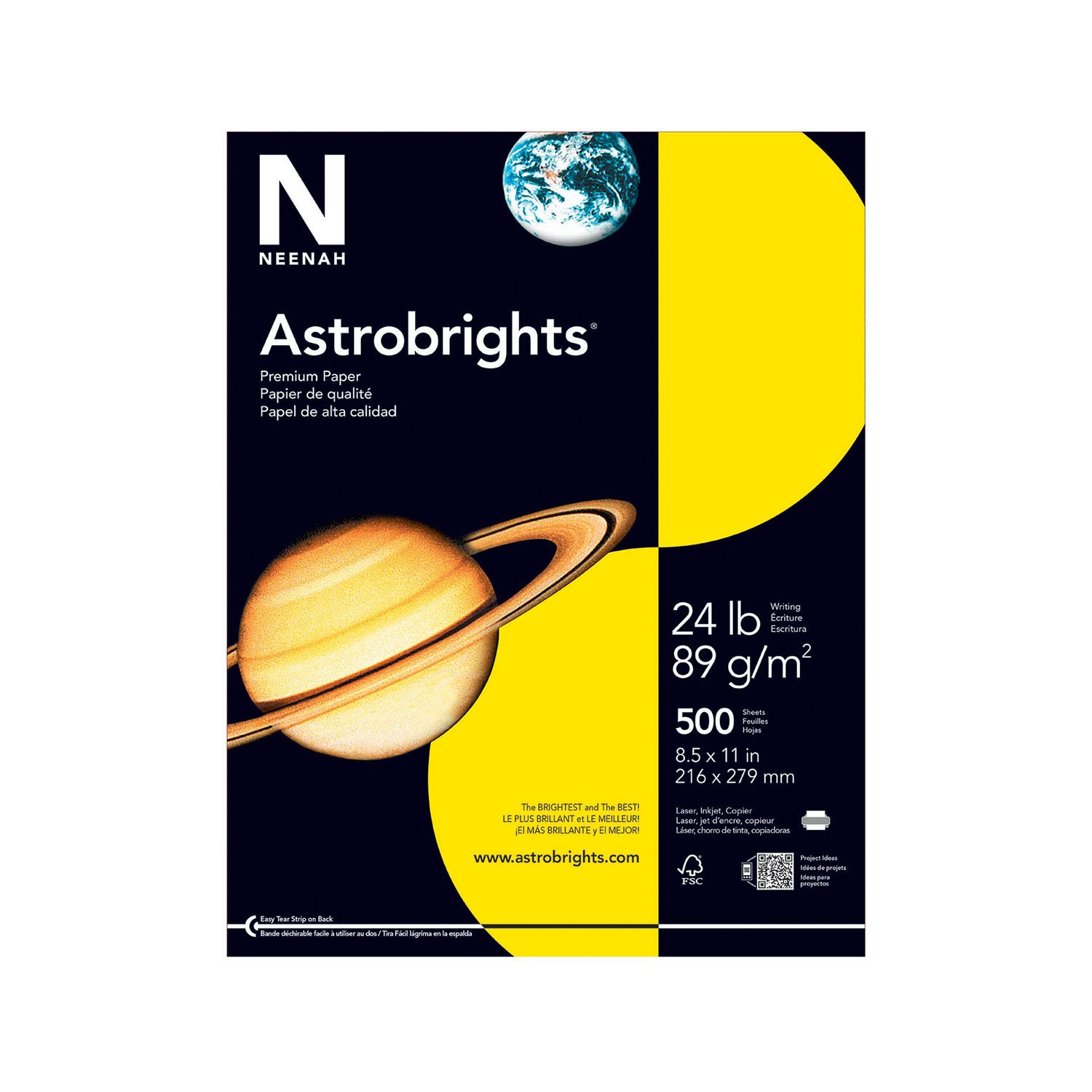 Gold color cardstock paper - Amazon Com Astrobrights Color Paper 8 5 X 11 24 Lb 89 Gsm Solar Yellow 500 Sheets Printer And Copier Paper Office Products