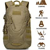 Hisea Outdoor Hiking Backpack 15L/25L - Durable Nylon Waterproof Daypack Tactical Military MOLLE Rucksacks with Ergonomic Design for Cycling Camping Travelling