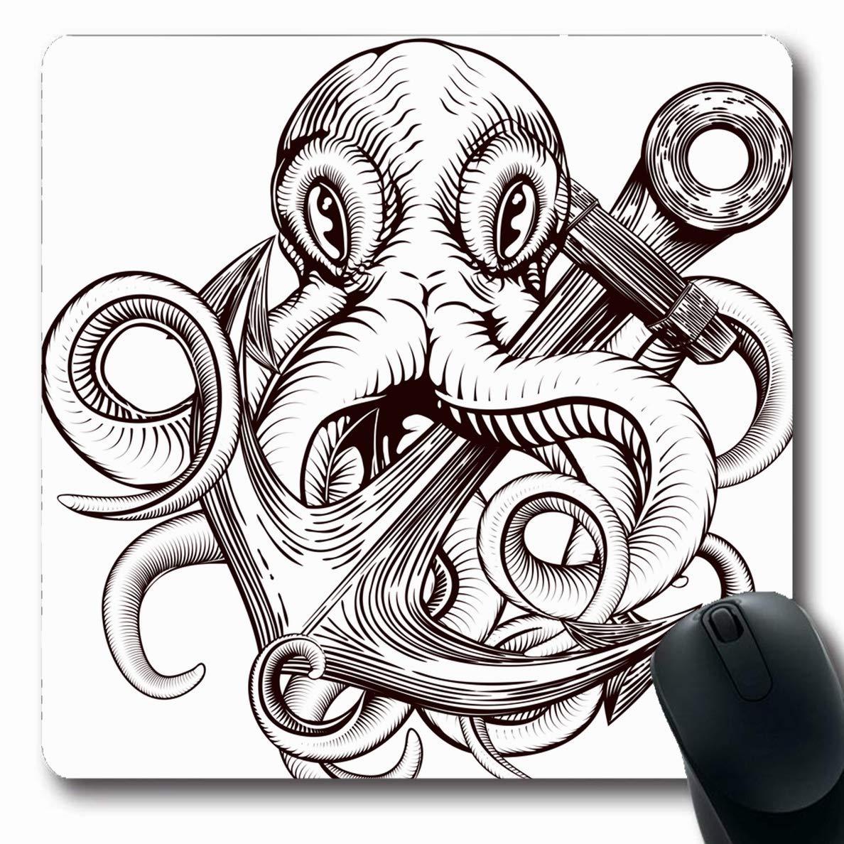 Alfombra Oblong de Navy Tatoo Tatuaje original Pulpo con etiqueta ...