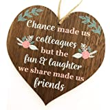 Manta Makes Chance Made Us Colleagues Fun And Laughter Novelty Wooden Hanging Heart