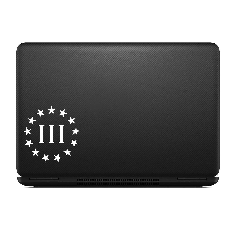Three Percenter Vinyl Decal Sticker White Molon Labe Sticker Decal Notebook Car Laptop 3 MAX-100453 Bargain Max Decals 2nd Amendment