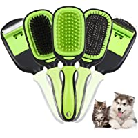 Ownpets 5 in 1 Pet Brush Set, Pet Grooming Shedding Massage Combs for Long Short Hair Dogs & Cats, Removes Undercoat…