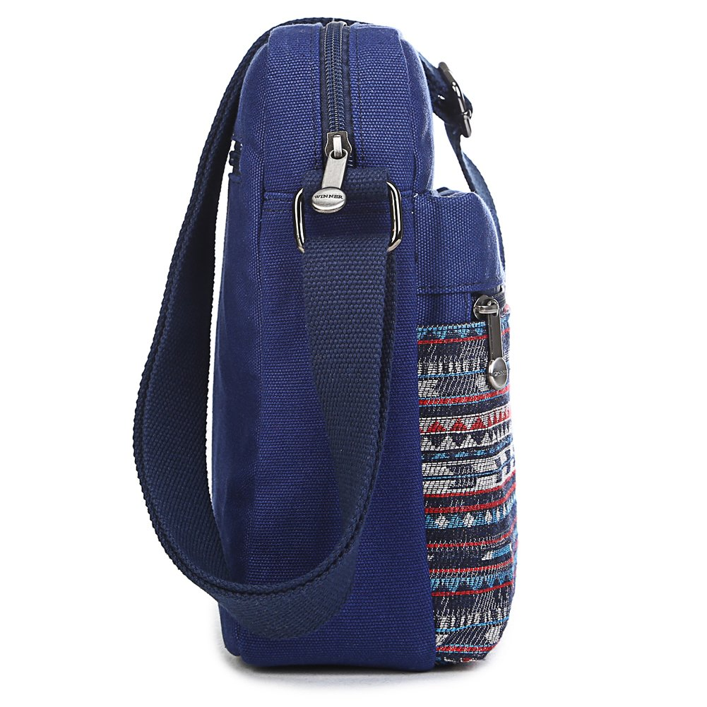 Kemy's Girls Stripe Tween Purses Set Small Crossbody Purse for Teen Girls Women Canvas Over Shoulder Messenger Bags for Traveling Easter Gifts, Teal White by Kemy's (Image #4)