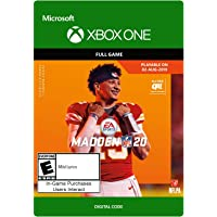 Madden NFL 20: Standard Edition [Xbox One Digital Code]