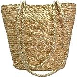 Womens Summer Beach Sea Rattan Straw Woven Braid Tote Shoulder Handbag Purse Bag