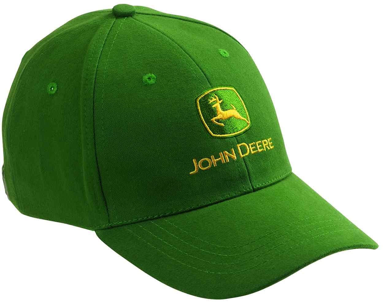 JOHN DEERE GREEN BASEBALL HAT CAP NOTHING RUNS LIKE A DEERE ...