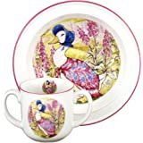 Jemima Puddleduck - 2 Piece Porcelain Feeding Set - 2 Handled Mug & Cereal Bowl - Beatrix Potter by Reutter Porzellan - Christening/Naming Day/New Born Gift