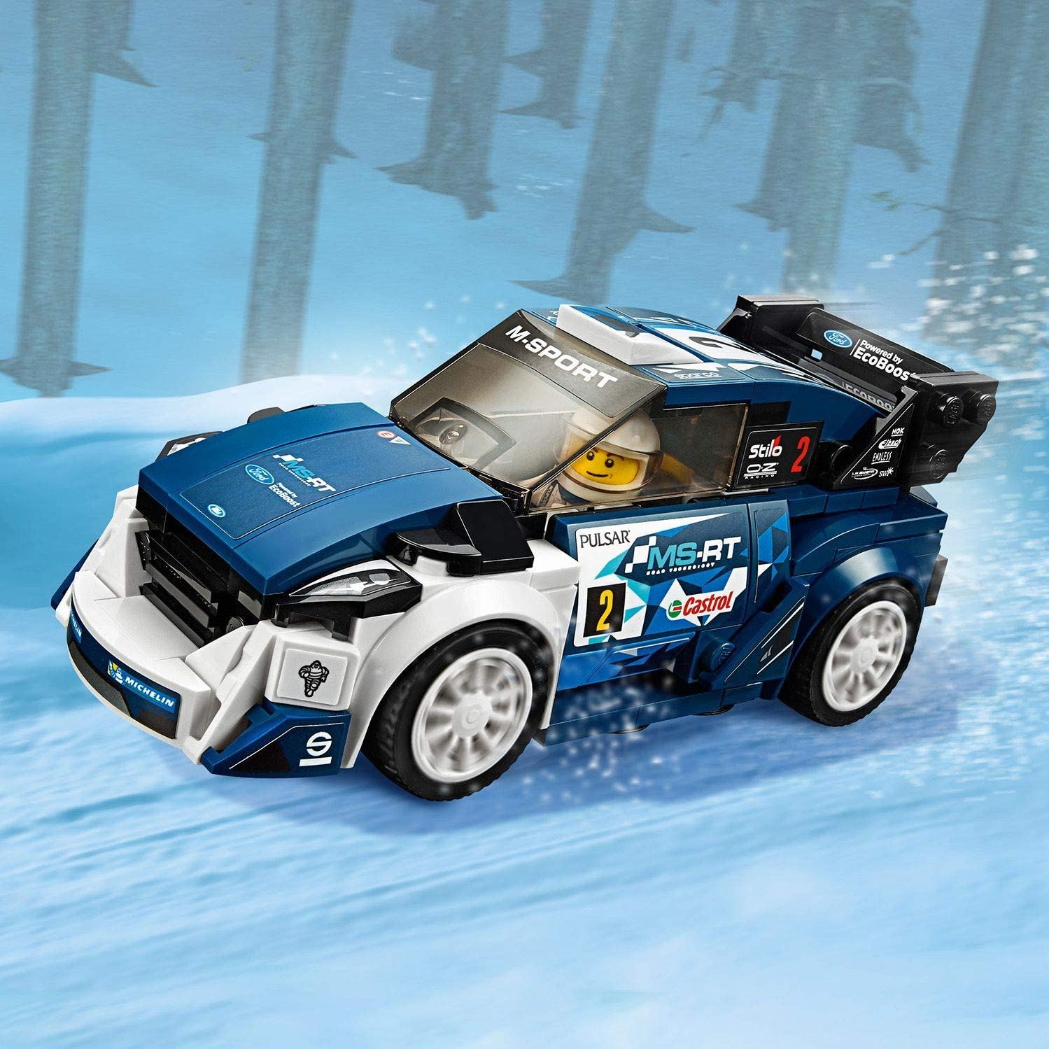 LEGO Speed Champions Ford Fiesta MSport WRC Toy Car 203 Piece 75885 7 Years