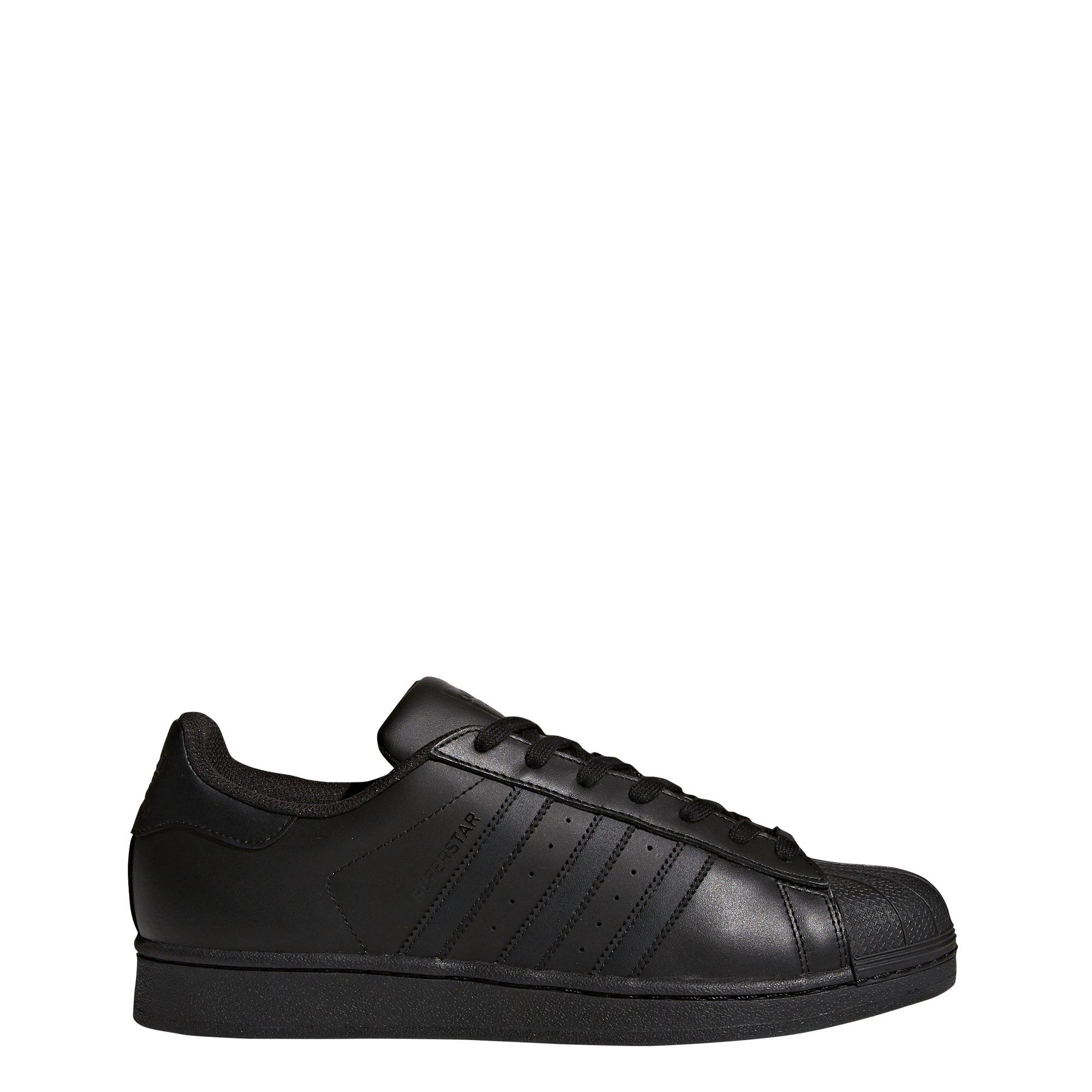 adidas Originals Men's Superstar Shoes, Black, 6 M US