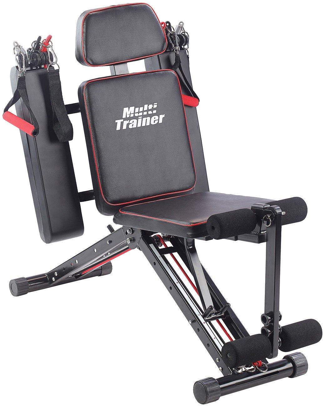 PEARL sports Ganzkörpertrainer: 40in1 Ganzkörper Krafttrainer HT-640 mit 40 Übungen (Kraftstation)