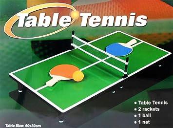Amazon.com: Mini Portable Tabletop Table Tennis (Ping Pong) Game ...