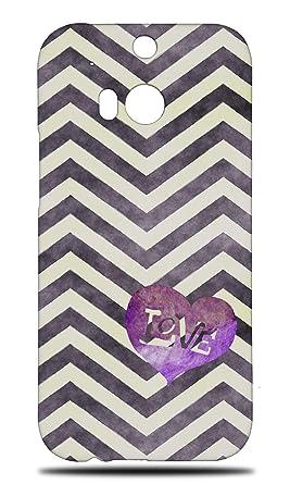 Amazon.com: Zig Zag Purple Love Heart Pattern Hard Phone ...