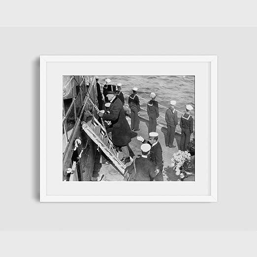 1919 Foto Presidente Woodrow Wilson y esposa escalada de ...