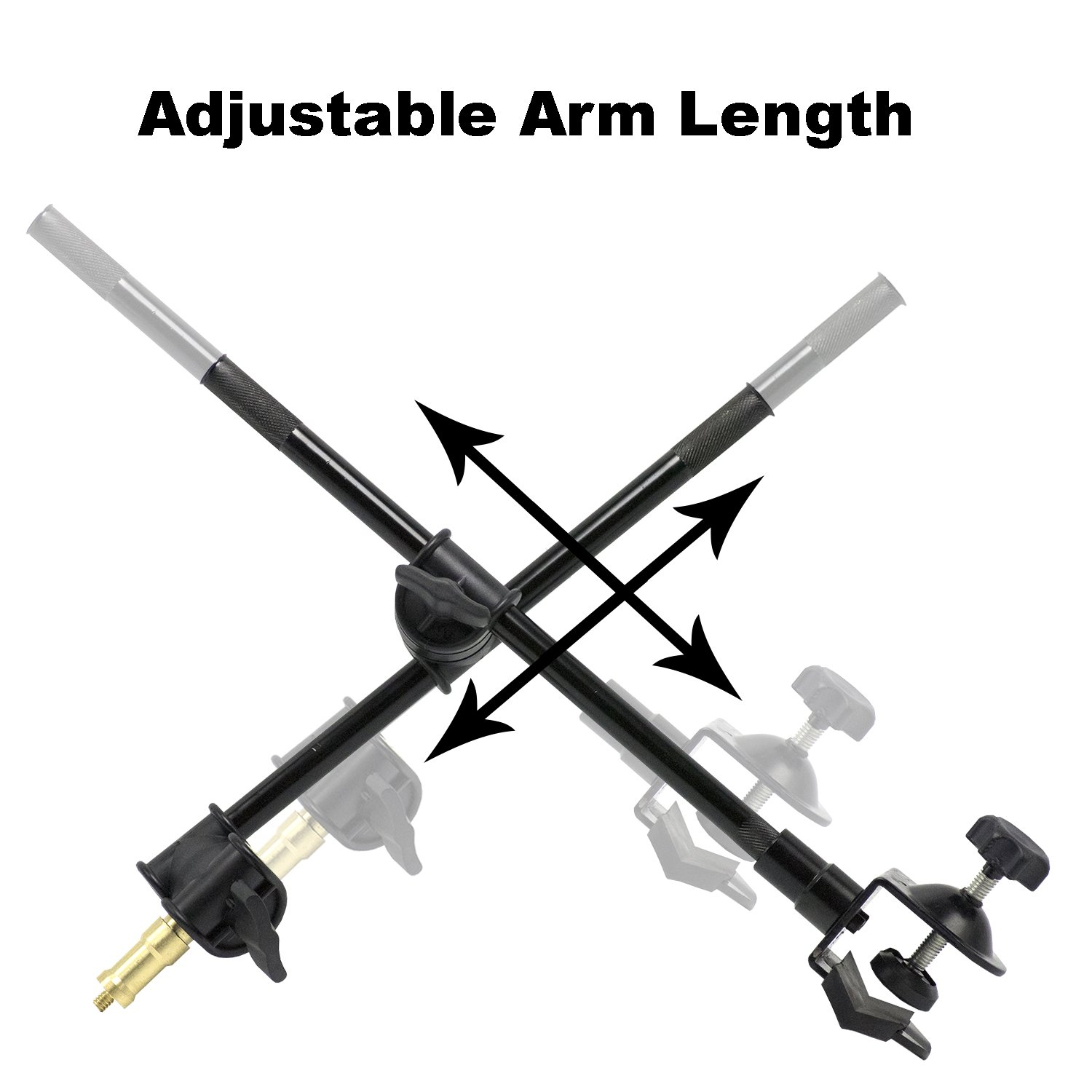 AGG2495 LimoStudio 360 Degree Rotating Magic Arm with Table Mounting Clamp and 1//4-inch Threaded Mounting Stud for Photo//Video Studio