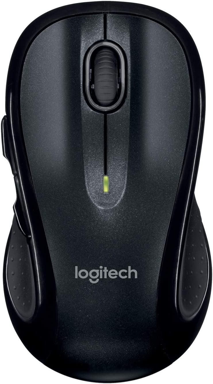Logitech M510 Ratón Inalámbrico, 2,4 GHz con Receptor USB Unifying, Seguimiento Láser 1000 DPI, 7 Botones, Batería 24 Meses, PC/Mac/Portátil - Negro