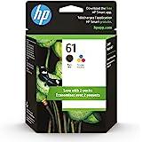 Original HP 61 Black/Tri-color Ink (2-pack)   Works with DeskJet 1000, 1010, 1050, 1510, 2050, 2510, 2540, 3000, 3050, 3510;