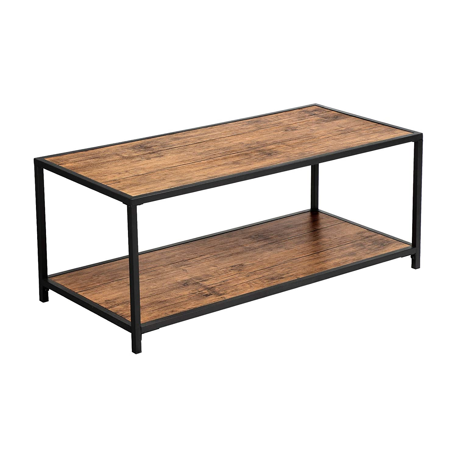 Vasagle Coffee Table Industrial Tea Table With Storage Shelf In