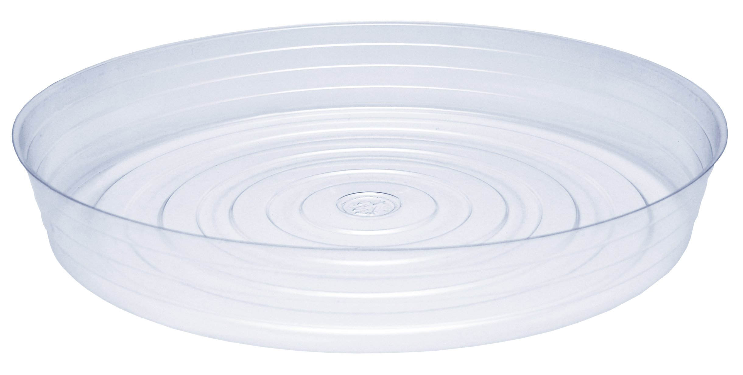 CWP CW-2100N Vinyl Plant Saucer, 21-Inch Diameter, Clear by CWP