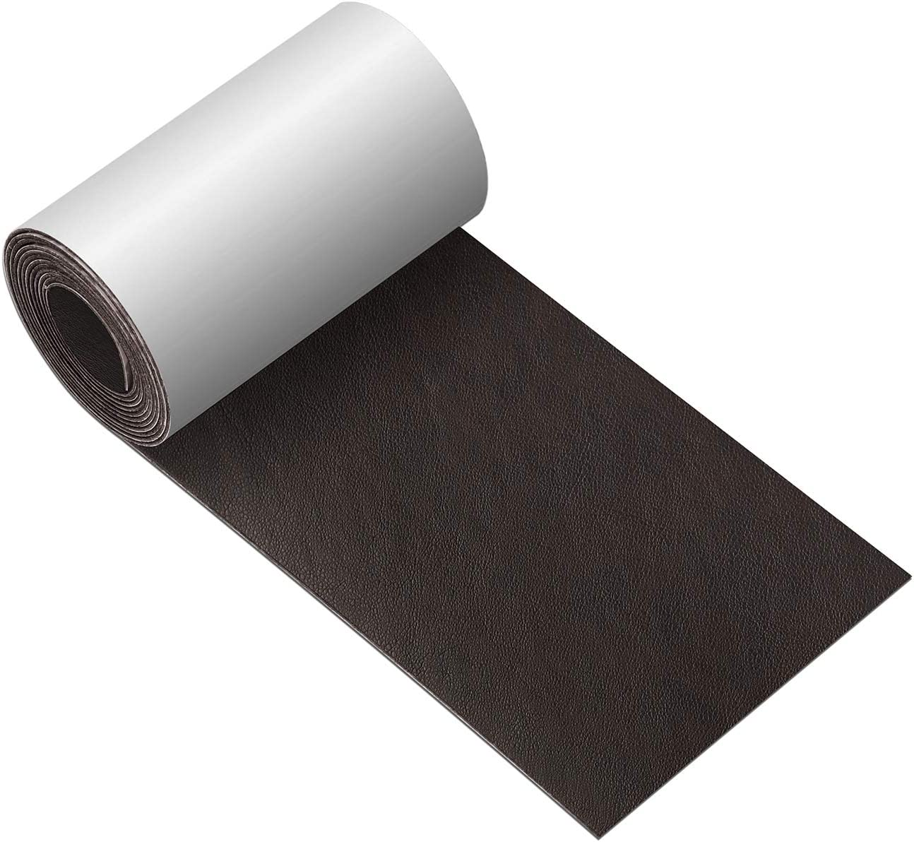 Leather Repair Tape 3X60 inch Patch Leather Adhesive for Sofas, Car Seats, Handbags, Jackets,First Aid Patch (Dark Brown No.3)