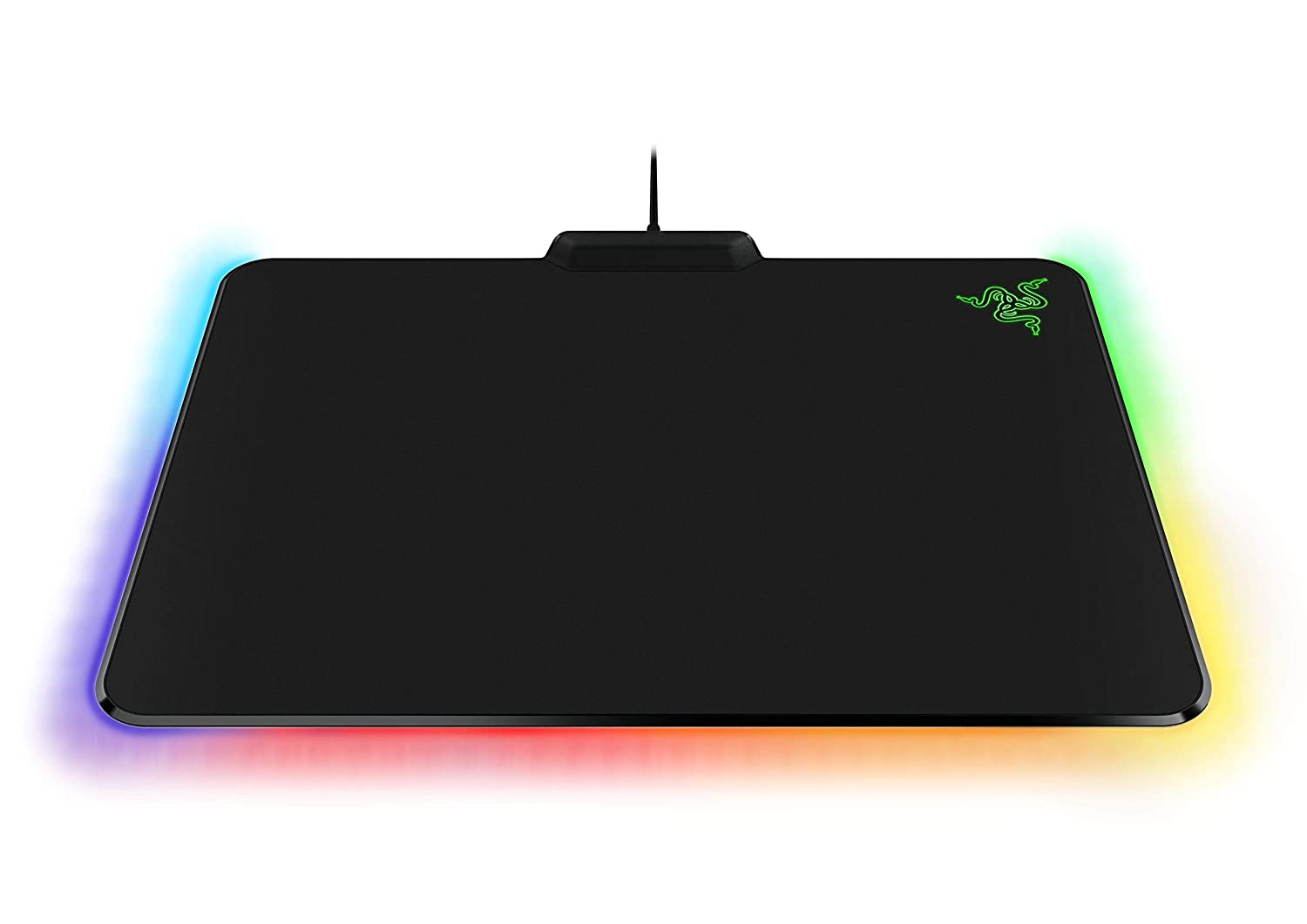 Razer Firefly Chroma Cloth Gaming Mouse Pad Customizable Chroma RGB Lighting – 14 x10 – Balanced Control Speed – Non-Slip Rubber Base