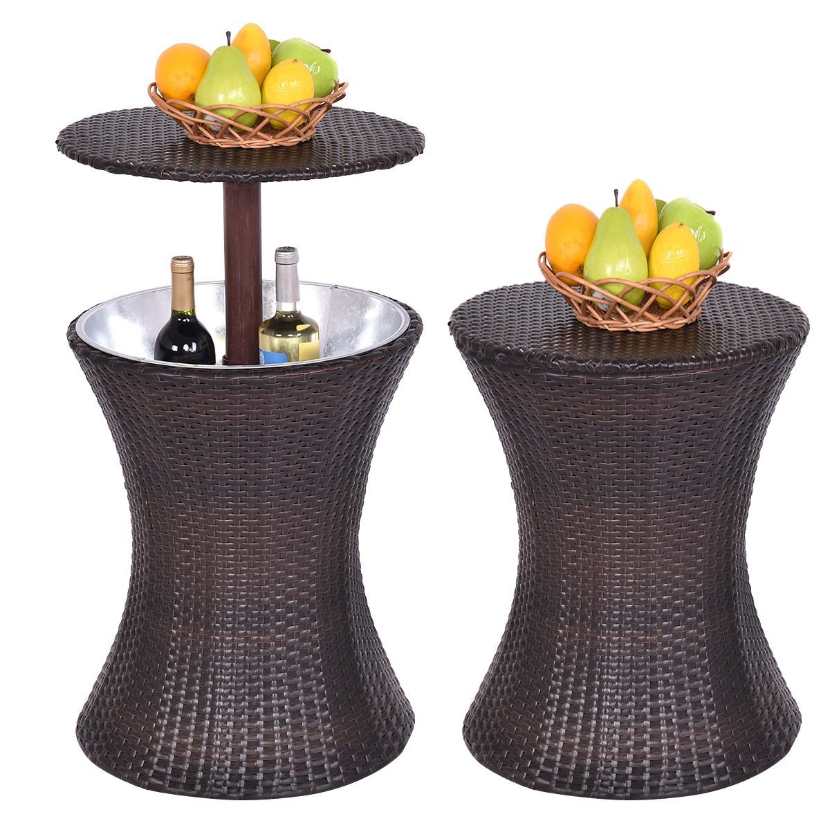 New MTN-G Adjustable Outdoor Patio Rattan Ice Cooler Cool Bar Table Party Deck Pool 1PC