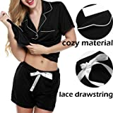 Adidome Women s Cotton Sleepwear Short Sleeve with Shorts Pajama Set S-XXL 52803ef71