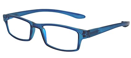 b7836d124f TBOC Gafas de Lectura Presbicia Vista Cansada - Graduadas +1.00 Dioptrías  Montura de Pasta Azul
