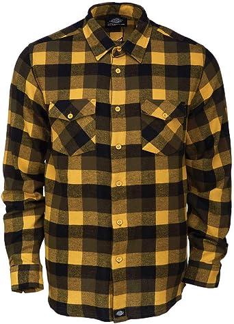 Dickies Luray Camisa Casual, Amarillo (Dijon Dij), S para Hombre: Amazon.es: Ropa y accesorios