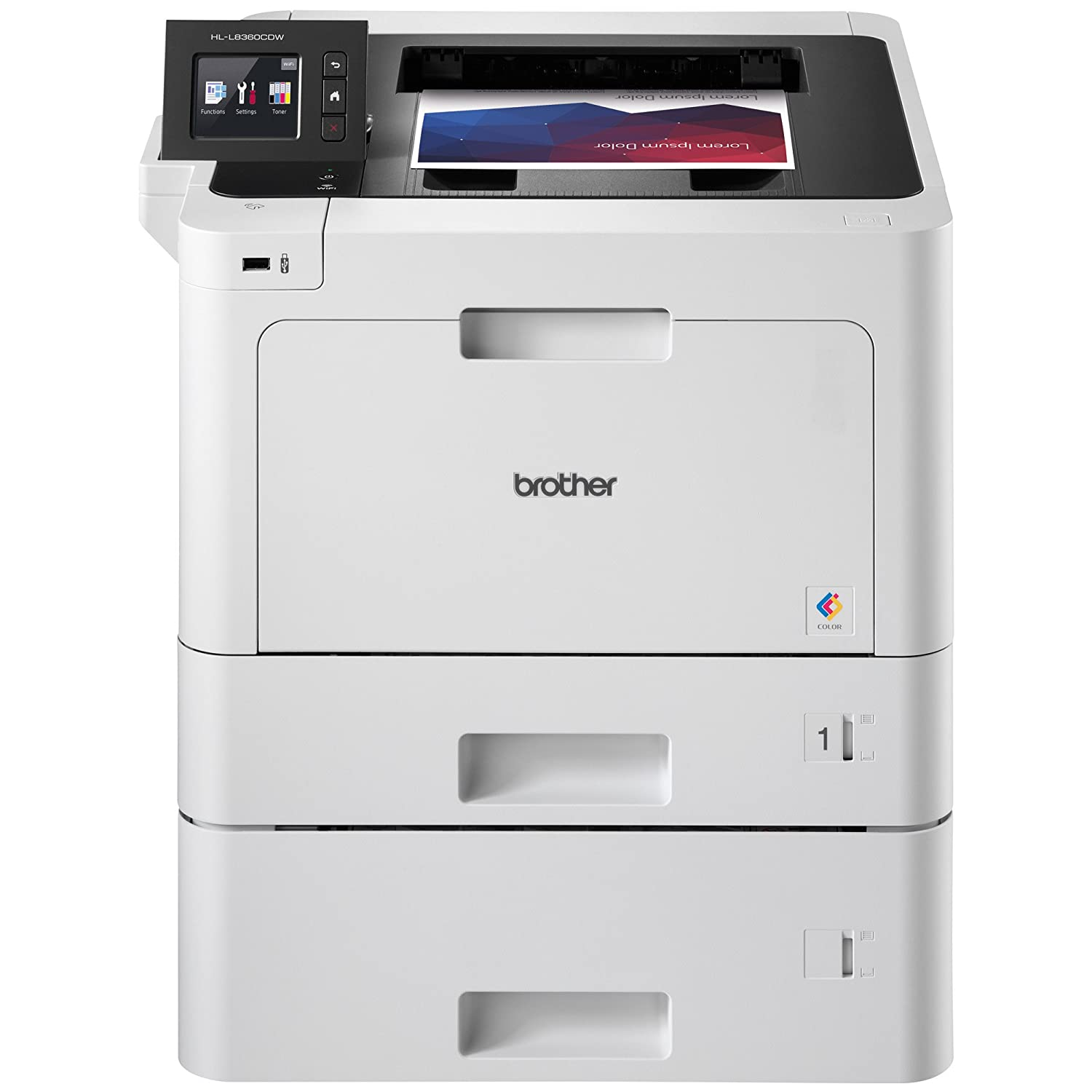 Brother Business Color Laser Printer, HL-L8360CDWT, Wireless Networking, Automatic Duplex Printing, Mobile Printing, Cloud Printing, Amazon Dash Replenishment Enabled