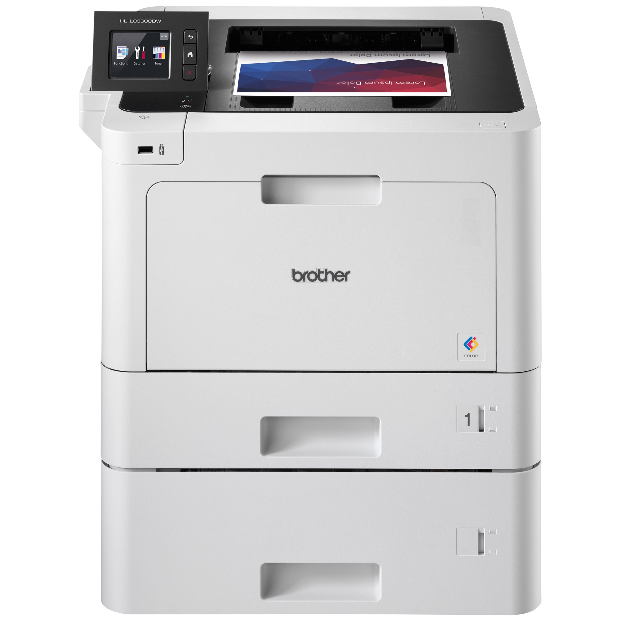 Brother Printer HLL8360CDWT Business Color Laser Printer with Duplex Printing, Wireless Networking and Dual Trays,  Amazon Dash Replenishment Enabled