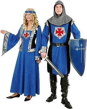 Vestido azul de la Edad Media Burgfräulein - disfraz de Caballero ...