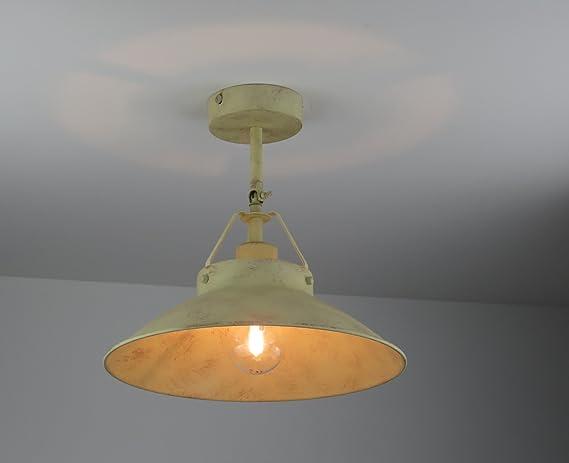 Plafoniere Industriali Diametro 30 : Lampadario plafoniera d.30 cm metallo vintage classico rustico