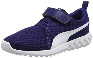 Puma Unisex-Kinder Carson 2 V PS Sneaker, Blau (Turkish Sea-Gray Violet), 28 EU