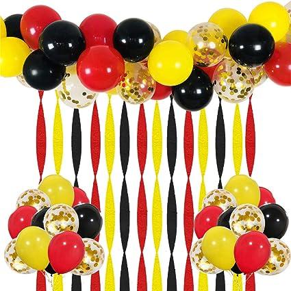 Amazon.com: Mickey Party Globos 40 unidades, 12 pulgadas ...