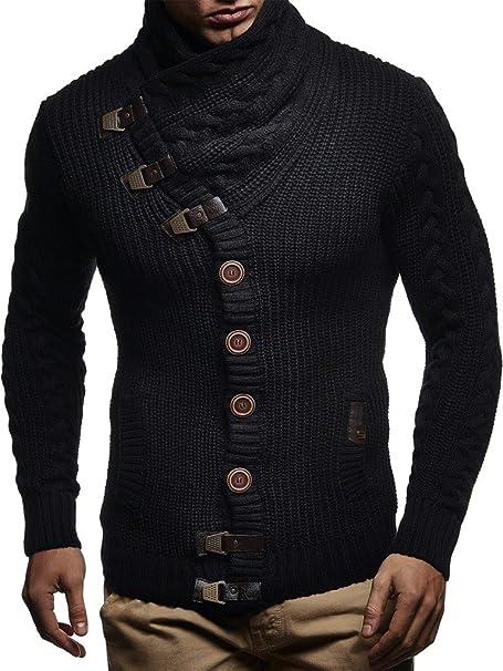 LEIF NELSON Men's Pullover Cardigan Hoodie Jacket Long Sleeve Sweat Jacket Sweatshirt LN7080
