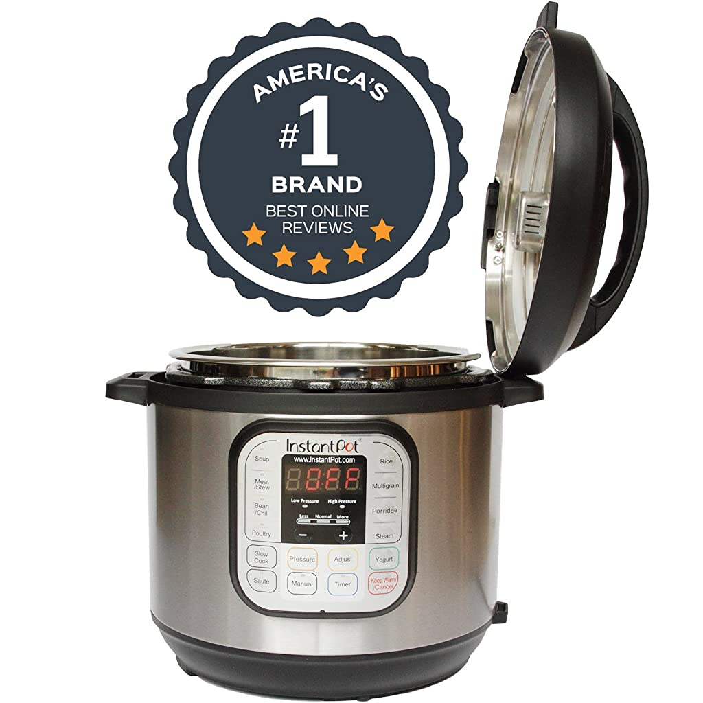 Instant Pot DUO60 7-in-1 Multi-Use Programmable Pressure Cooker, 6 Qt | Stainless Steel