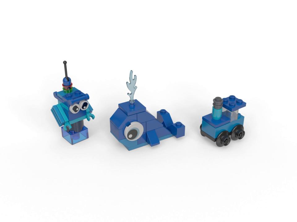 LEGO Classic Mattoncini Creativi per Creare e Ricreare Mille Idee di Gioco, Set di Costruzioni per Bambini +4 Anni, Blu, 11006