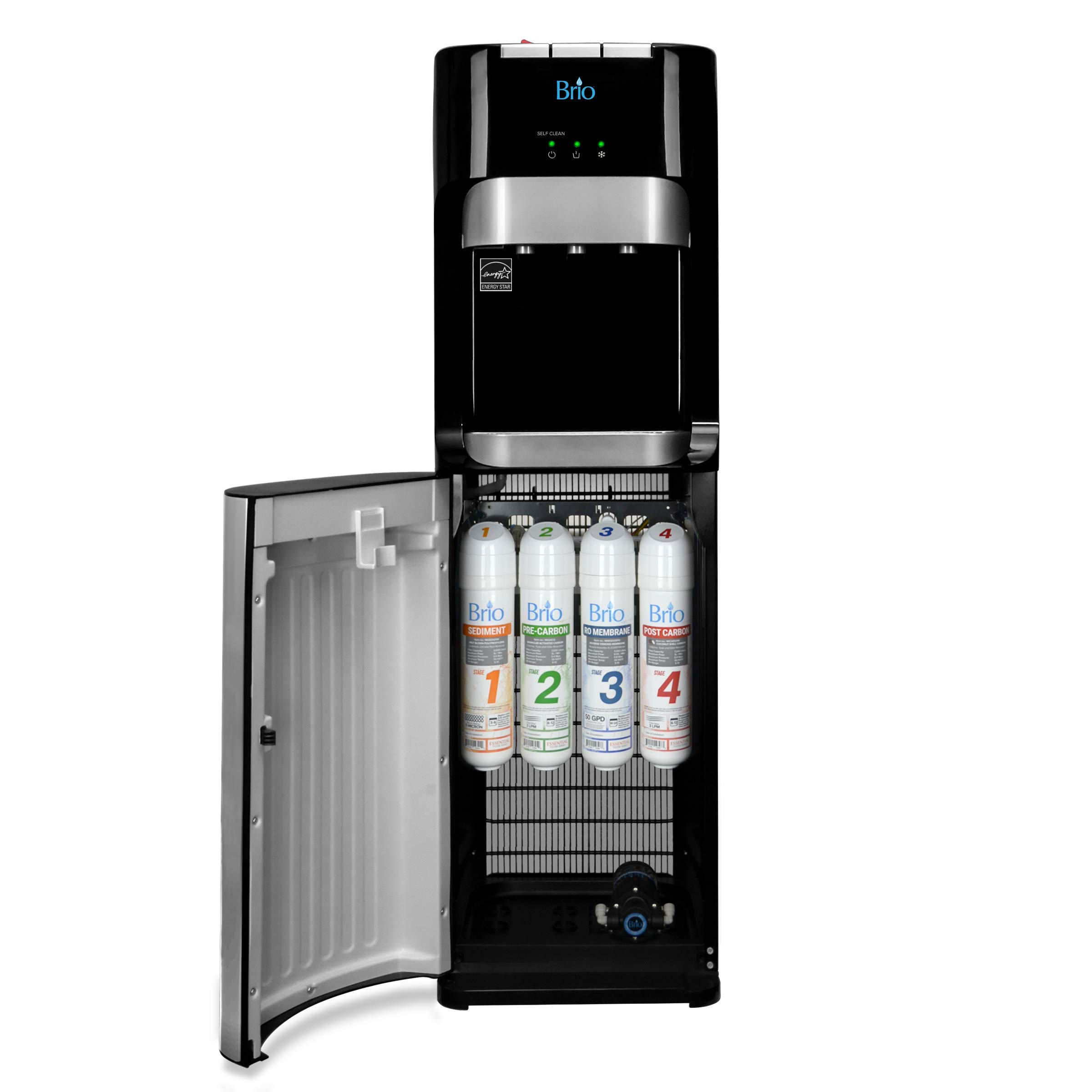 Brio Commercial Grade Bottleless Ultra Safe Reverse Osmosis Drinking Water Filter Water Cooler Dispenser-3 Temperature Settings Hot, Cold & Room Water - UL/Energy Star Approved - Point of Use - Version 2 by Brio