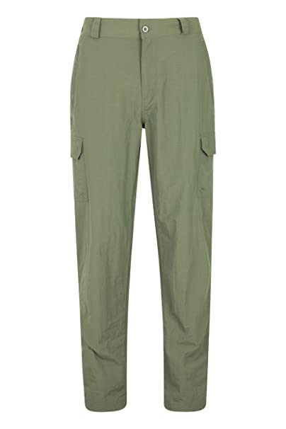 Mountain Warehouse Mens Trek Convertible Trousers w// Quick Drying Fabric