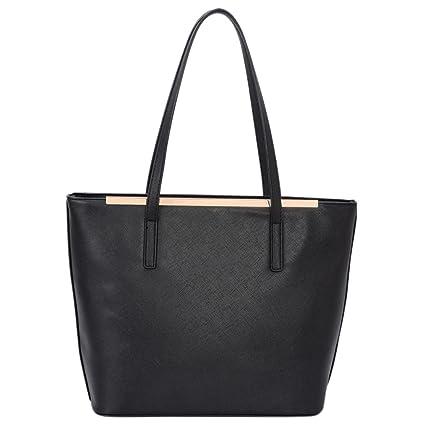 d7a1ca55dd4f David Jones - Women s Top Handle Shoulder Handbags Tote Purse - Saffiano  Imitation Faux Leather Long