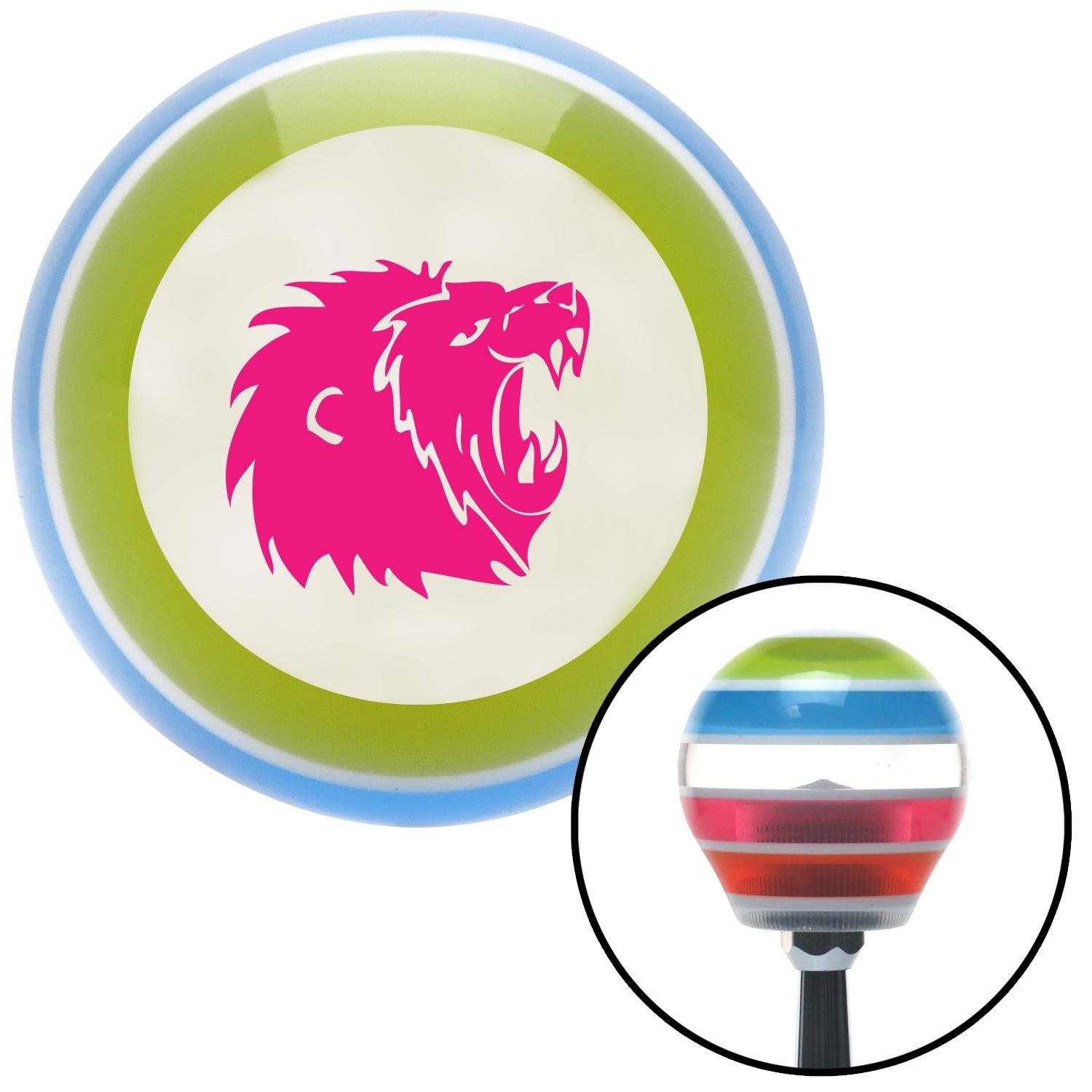 American Shifter 130658 Stripe Shift Knob with M16 x 1.5 Insert Pink Lion