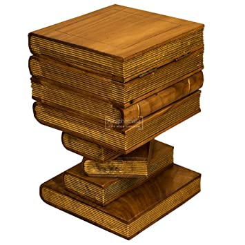Tremendous Solid Suar Wood Book Stack Storage Box Side Table Waxed Download Free Architecture Designs Fluibritishbridgeorg