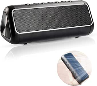 The Original Solar Soundbar - Solar Bluetooth Speaker - 50+ Hours of Playtime - Wireless Outdoor Bluetooth Speaker - Waterproof Bluetooth Portable Speakers with Solar Powered Portable Charger
