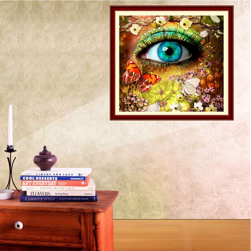 Allywit Diamond Painting, 5D Diamond Painting Kit - Creative Eyes - Diamond Painting Arts Craft for Home Wall Decor Gift DIY Painting by Diamonds