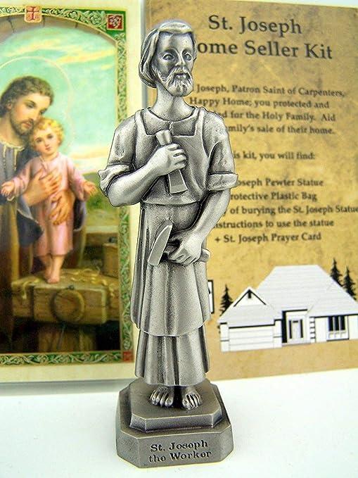 Amazon Quality Pewter St Joseph Statue Home Seller Selling Kit