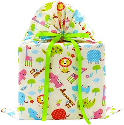 Amazon.com: Jungle Animals - Bolsa de regalo reutilizable de ...