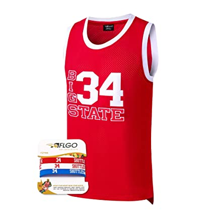 ad3f8511e AFLGO Jesus Shuttlesworth 34 Big State Basketball Jersey He Got Game Red